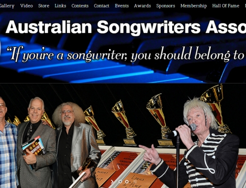Australian Songwriter's Association Web Site nearing completion